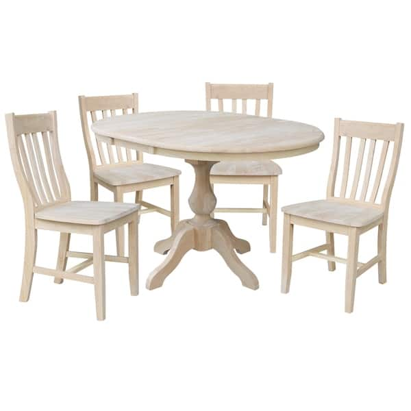 Shop 36 Round Extension Dining Table With 4 Cafe Chairs On Sale Overstock 27283402
