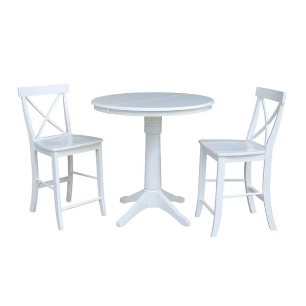Swell Shop 36 Round Extension Dining Table 34 9H With 2 X Back Beatyapartments Chair Design Images Beatyapartmentscom