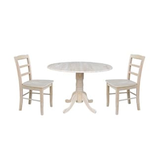 """42"""" Dual Drop Leaf Table With 2 Madrid Chairs"""