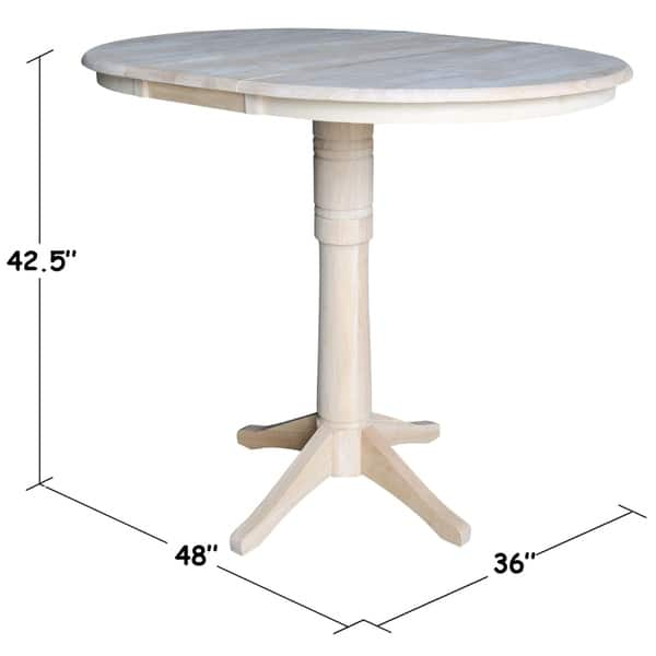 International Concepts Unfinished Wood 36 Inch Round