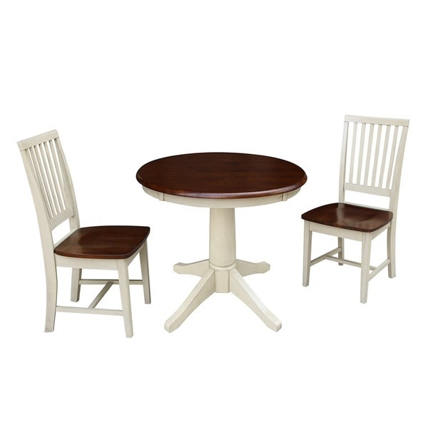 """36"""" Round Top Pedestal Table - With 2 Mission Chairs"""