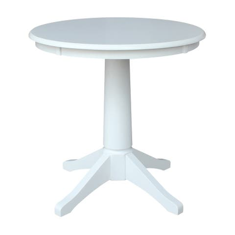 "30"" Round Pedestal Table - White"