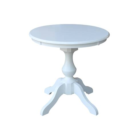 "30"" Round Top Pedestal Table - White"