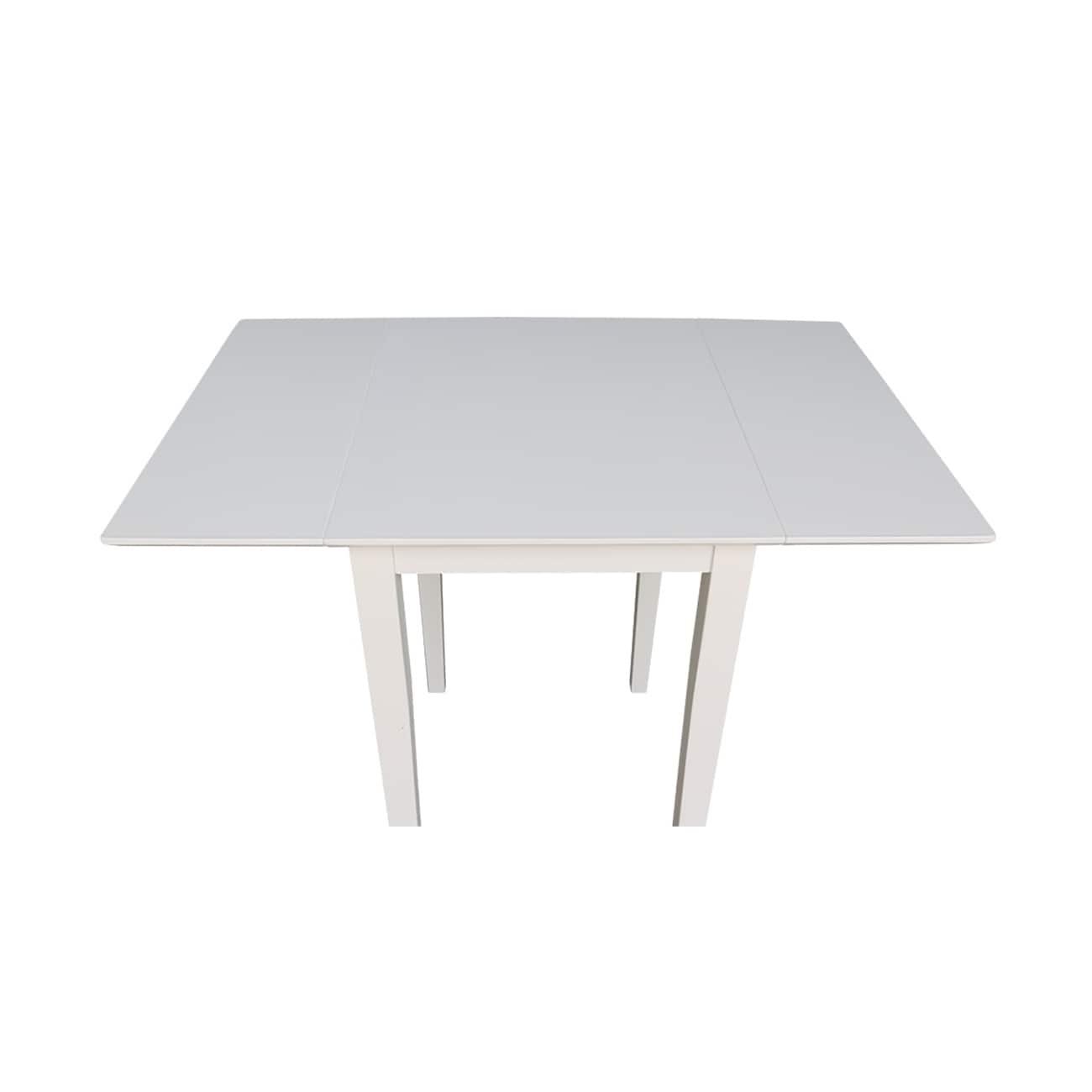 Den Mandel White Small Dropleaf Table