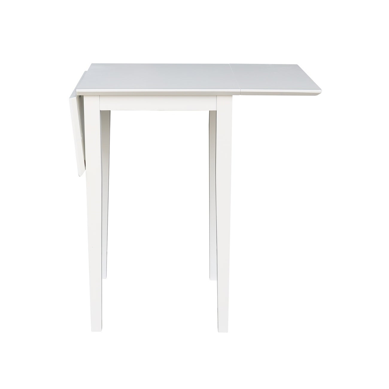 Admirable Porch Den Mandel White Small Dropleaf Table Cjindustries Chair Design For Home Cjindustriesco