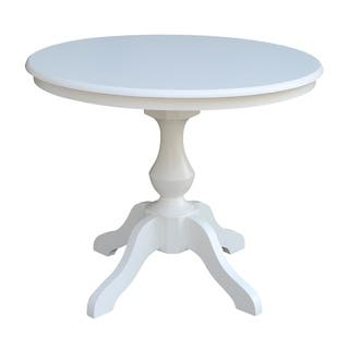 "36"" Round Top Pedestal Table - White"