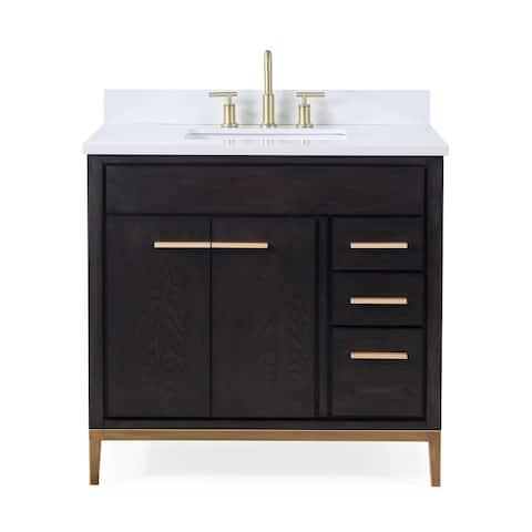 "36"" Tennant Brand Beatrice Modern Espresso Bathroom Vanity"