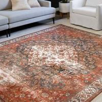 Alexander Home Isabelle Traditional Vintage Border Area Rug
