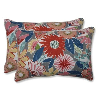Catching Rays Poppy Over-sized Rectangular Throw Pillow (Set of 2)