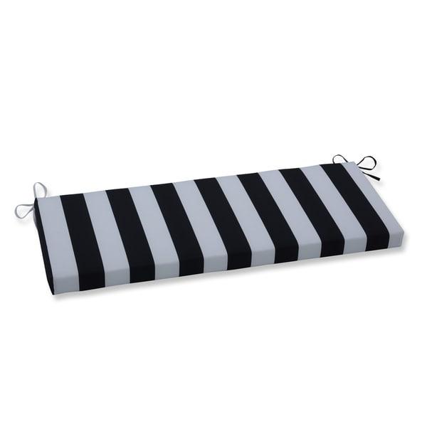 Cabana Stripe Black Bench Cushion