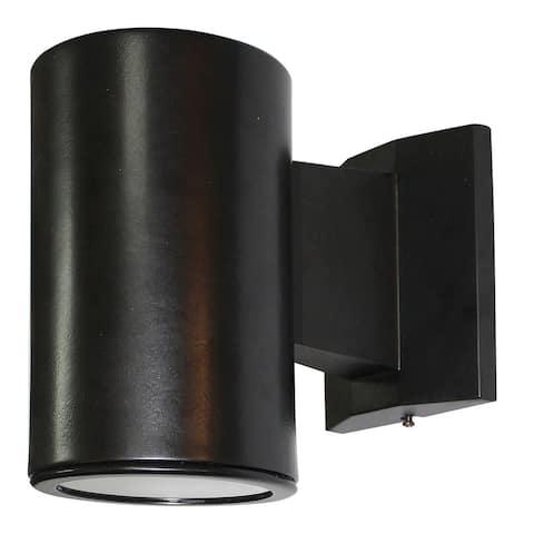 LED Light Drum Sconce in Black finish