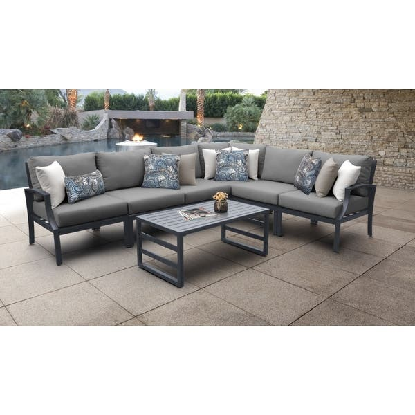 Moresby 7 Piece Outdoor Aluminum Patio Furniture Set 07b By Havenside Home Overstock 27283875
