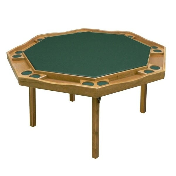 Kestell Oak Period Style Poker Table - Fabric Playing Surface