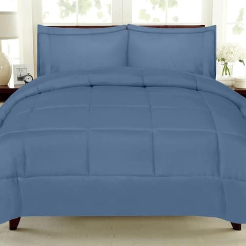Sweet Home Collection Luxury Solid 7-piece Bed-In-a-Bag with Sheet Set