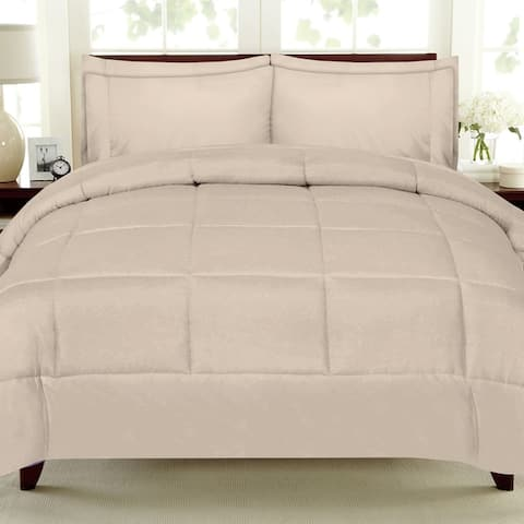 Sweet Home Collection Luxury Solid Bed-In-a-Bag with Sheet Set