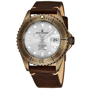 Link to Revue Thommen 17571.2588 'Diver' Silver Dial Brown Leather Strap Gunmetal Automatic Watch Similar Items in Men's Watches