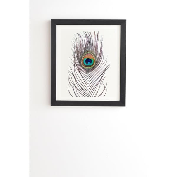 Deny Designs Peacock Feather Framed Wall Art (3 Frame Colors) - Multi-Color. Opens flyout.
