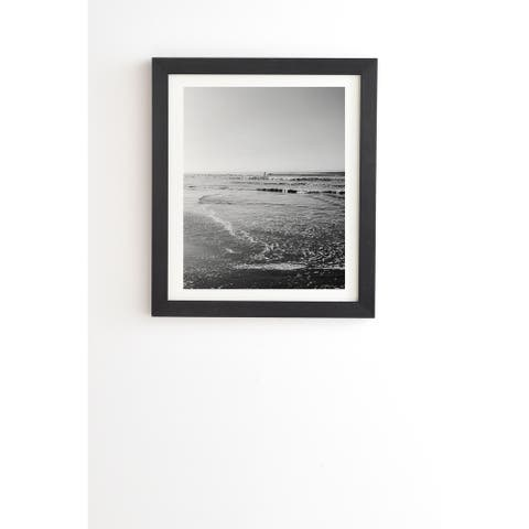 Deny Designs Black and White Sure Framed Wall Art (3 Frame Colors) - Grey