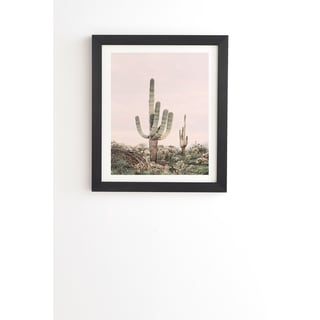 Link to Deny Designs Pastel Cactus Framed Wall Art (3 Frame Colors) - Pink Similar Items in Art Prints