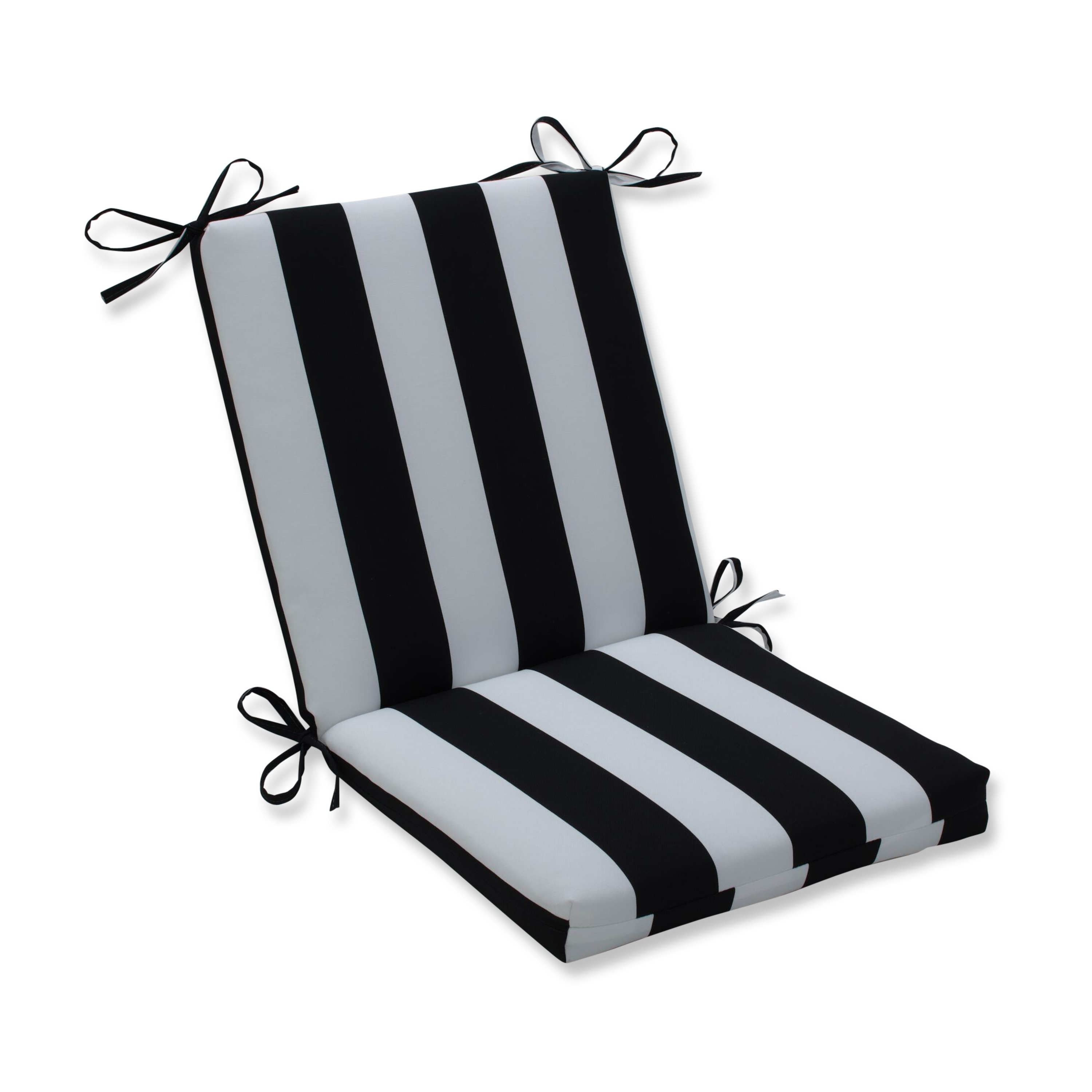 Cabana Stripe Black Squared Corners