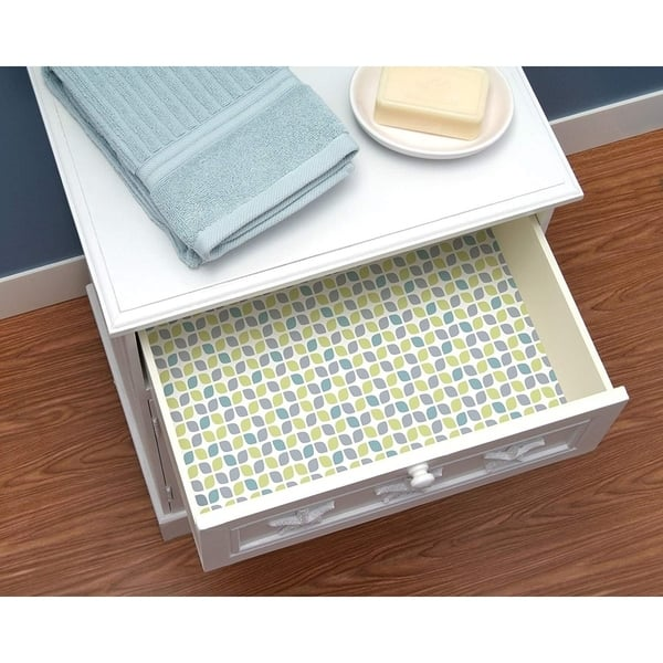 Magic Cover Non Adhesive Vinyl Liner Cardiff Gray Counter Top Drawer Shelf 18 X5 Pack Of 6 N A