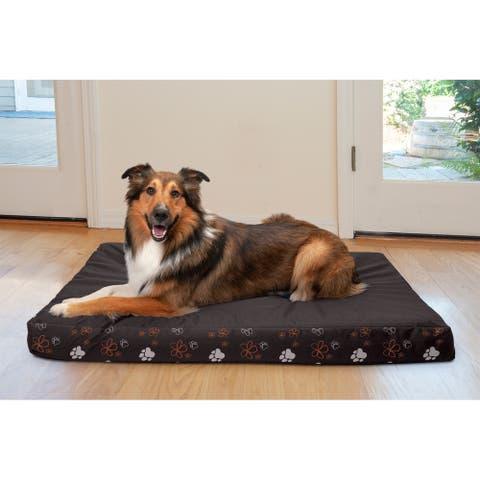 FurHaven Pet Bed Indoor/Outdoor Garden Deluxe Memory Foam Mattress Dog Bed