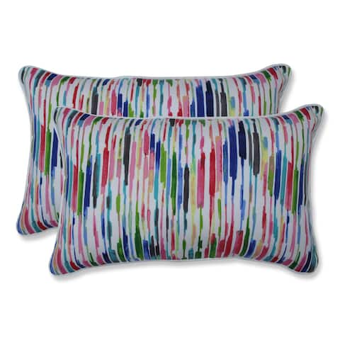 Drizzle Summer Rectangular Throw Pillow (Set of 2)