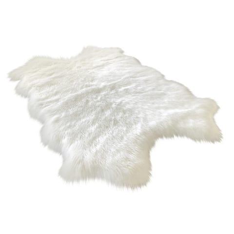 Silver Orchid Nansen Luxurious Faux Sheepskin Pelt Shag Rug