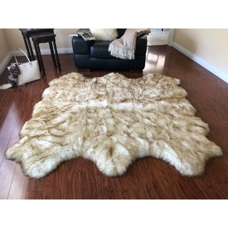 Link to Silver Orchid Nansen Luxurious Faux Sheepskin Pelt Shag Rug Similar Items in Shag Rugs