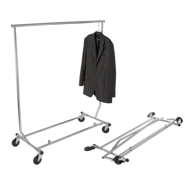 Lightweight Home Clothing Garment Rolling Rack, residential/commercial