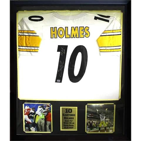 Santonio Holmes Pittsburgh Steelers Autographed Jersey Frame
