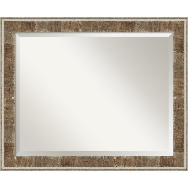 Shop farmhouse brown narrow wood framed bathroom mirror - White wood framed bathroom mirrors ...