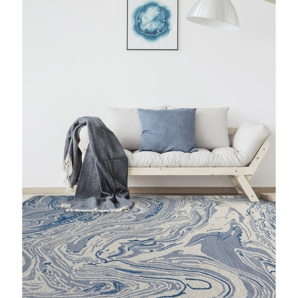 Forrera Hand-Tufted Marbled Area Rug
