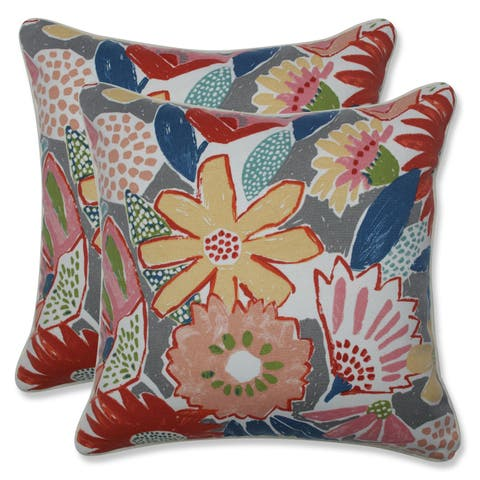 Catching Rays Poppy 16.5-inch Throw Pillow (Set of 2)