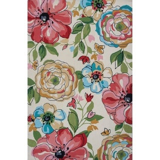 Link to Domani Mohana Sand Floral Hand-hooked Area Rug Similar Items in Rugs
