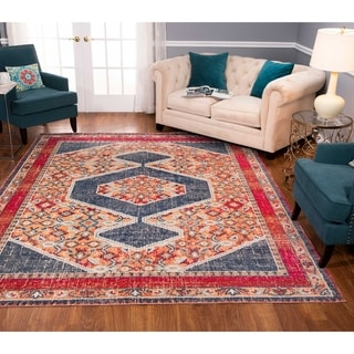 Noori Rug Low-Pile Rivaj Blue/Orange Rug