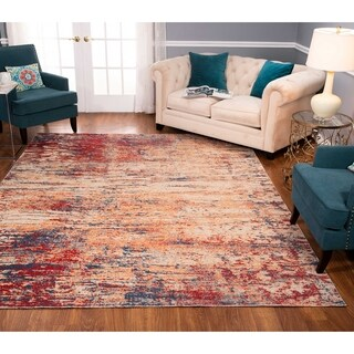 Noori Rug Low-Pile Rivaj Blue/Red Rug