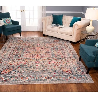 Noori Rug Low-Pile Rivaj Grey/Green Rug