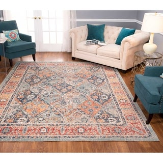 Porch & Den Galer Grey/Red Low-pile Area Rug