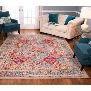 Noori Rug Low-Pile Rivaj Grey/Red Rug