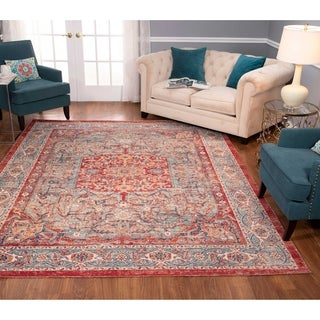 Noori Rug Low-Pile Rivaj Red/Green Rug