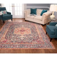 Porch & Den Ford Blue/Red Low-pile Area Rug
