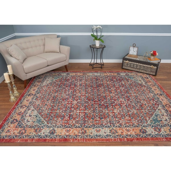 Noori Rug Low-Pile Rivaj Red/Orange Rug