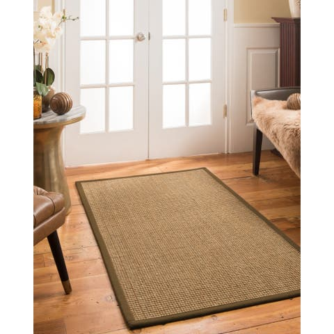 "Natural Area Rugs, Rectangle (2'6""X11'), 100% Natural Fiber Montes, Seagrass Brown,Handmade - 2'6"" x 11'"