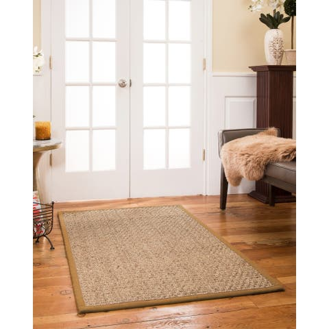 "Natural Area Rugs, Rectangle (2'6""X9'), 100% Natural Fiber Opulence, Seagrass Beige,Handmade - 2'6"" x 9'"
