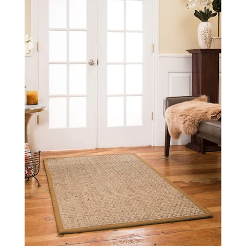 "Natural Area Rugs, Rectangle (2'6""X11'), 100% Natural Fiber Opulence, Seagrass Beige,Handmade - 2'6"" x 11'"