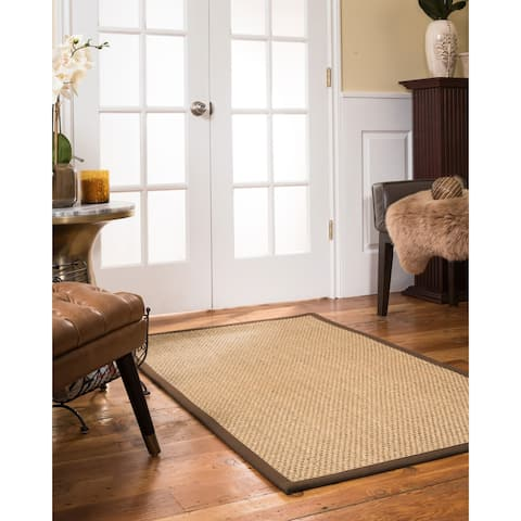 Natural Area Rugs, Rectangle (5'X7'), 100% Natural Fiber Marina, Seagrass Beige,Handmade - 5' x 7'
