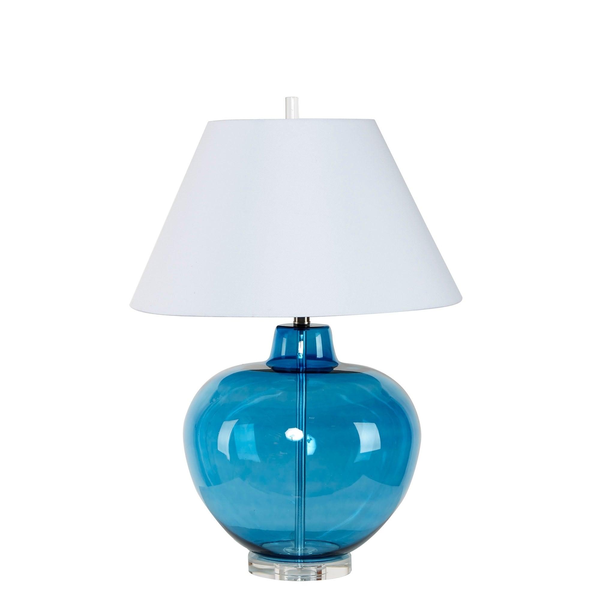 Dani Large Round Glass Table Lamp