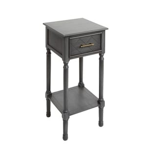 Angelica Sqaure Accent Table with Shelf