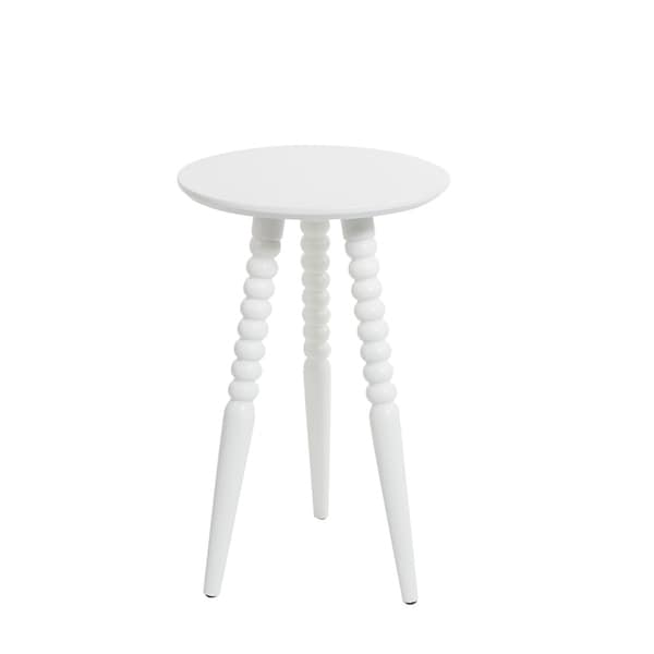 Allison Round Accent Table with Turned Legs. Opens flyout.